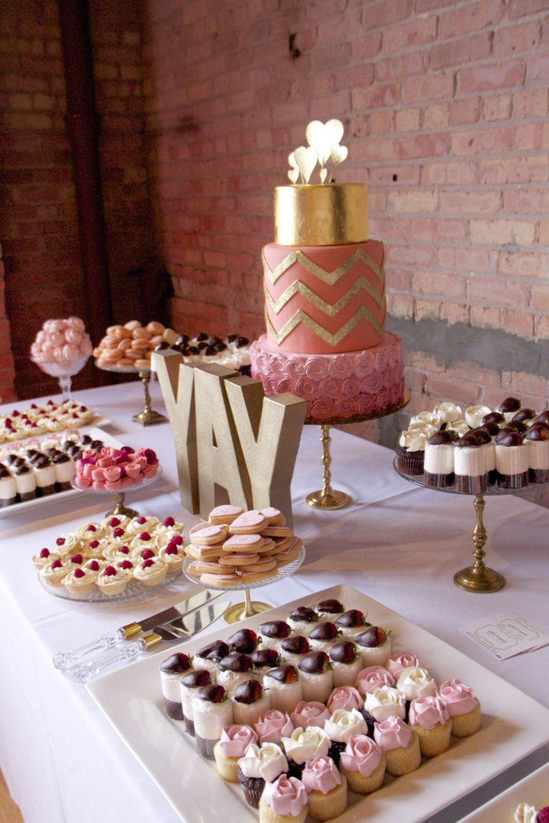 yay - pink and gold sweet table